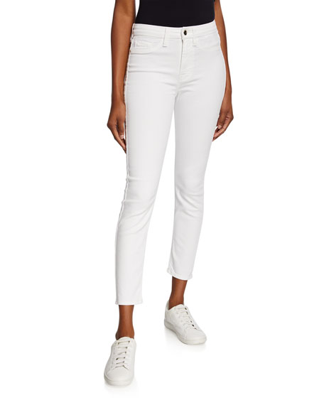 Jen7 by 7 for All Mankind Mid-Rise Cropped Ankle Skinny Jeans
