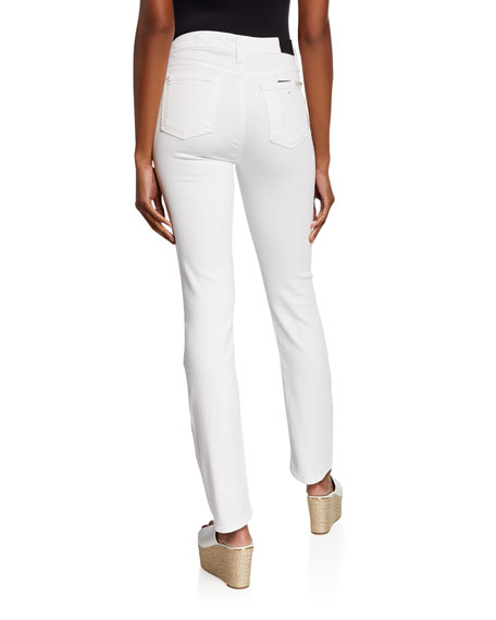 Jen7 by 7 for All Mankind Mid-Rise Slim Straight-Leg Jeans