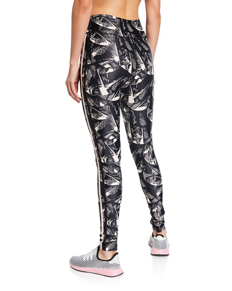 The Upside Japanese First Dance Leaf-Print Ankle Pants