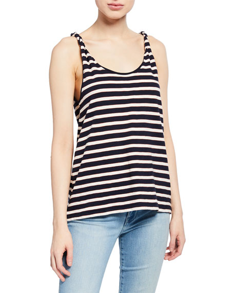 Image 2 of 3: Current/Elliott The Twisted Striped Tank
