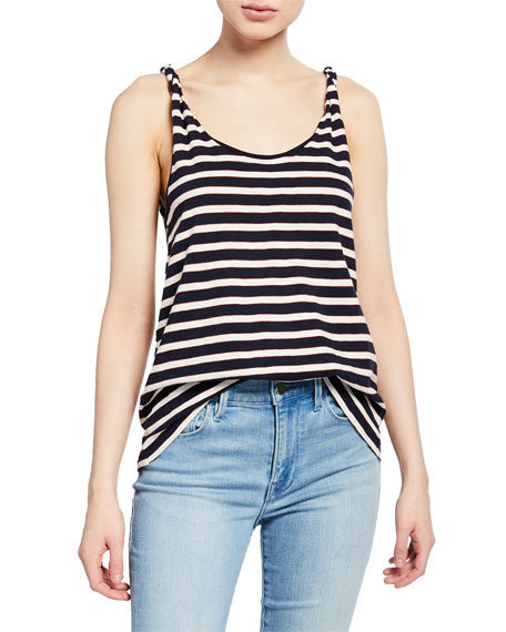 Image 1 of 3: Current/Elliott The Twisted Striped Tank