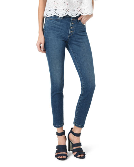 Joe's Jeans The Charlie Button-Fly Cropped Skinny Jeans