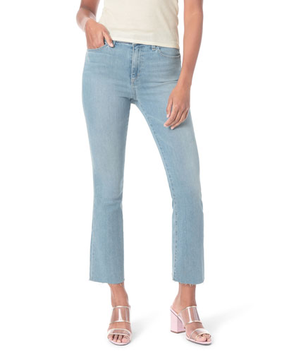 Honey High-Rise Cropped Boot Cut Raw-Edge Jeans