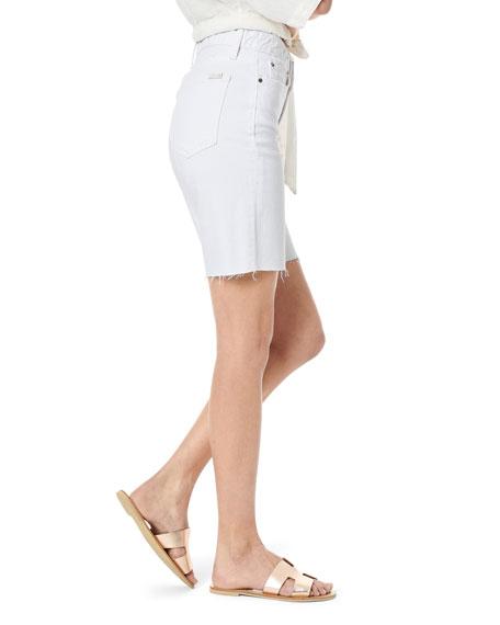 Joe's Jeans Honey High-Rise Frayed Bermuda Shorts