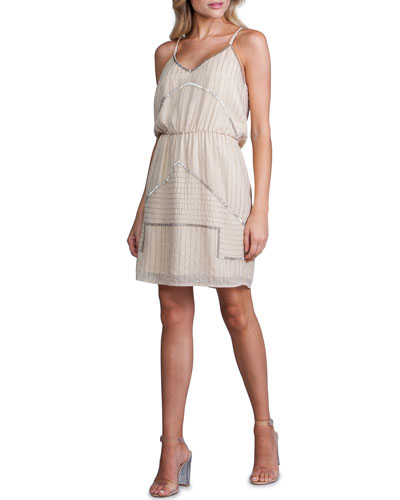 Beaded V-Neck Strappy Dress