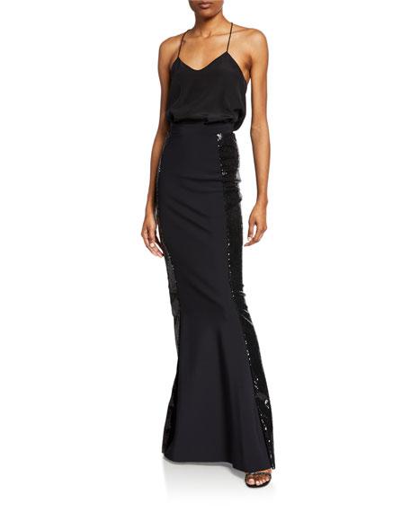 Chiara Boni La Petite Robe Sherilyn Sparkle Side Sequin Skirt
