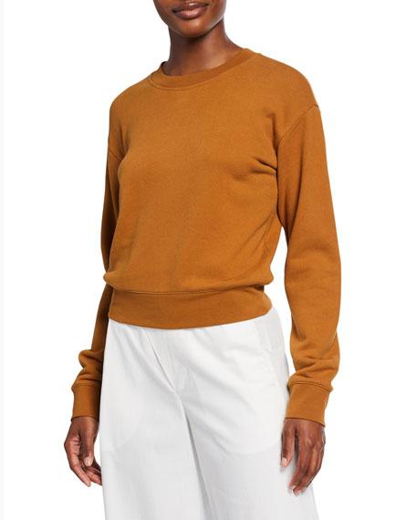Vince Crewneck Long-Sleeve Cotton Pullover
