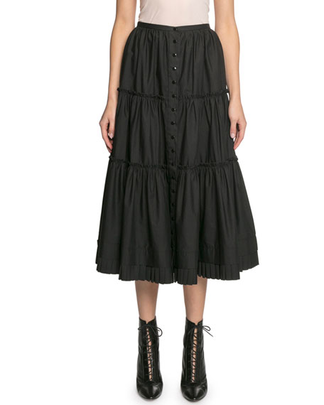 Image 1 of 2: The Marc Jacobs The Prairie Tiered Ruffle Skirt
