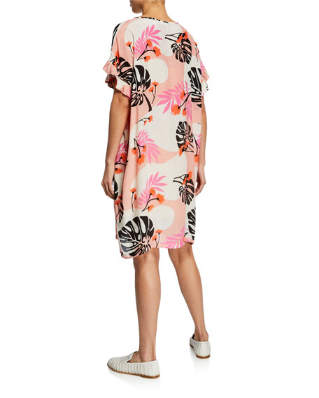 Masai Nara Floral-Print Short-Sleeve Dress