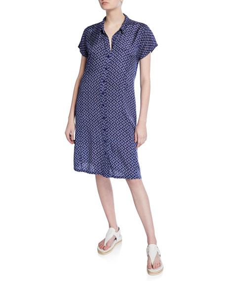 Masai Nene Printed Short-Sleeve Button-Front Dress