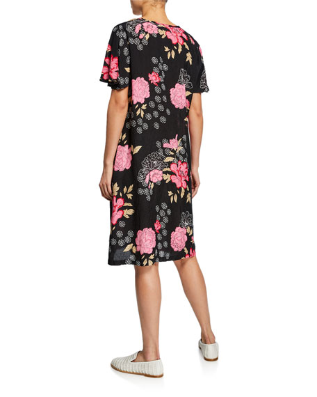 Masai Nema Floral-Print Short-Sleeve Dress