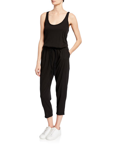 High Torison Scoop-Neck Jumpsuit