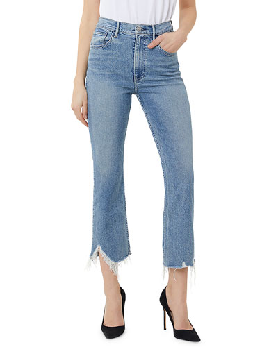 W5 Empire Cropped Bell-Bottom Jeans