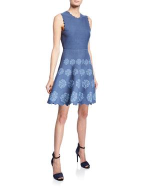 1b2e4c4f59 kate spade new york sleeveless floral-hem sweater dress