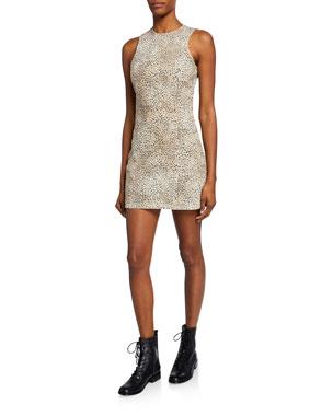 dae919e0736d1 alexanderwang.t Sleeveless Cheetah-Print Mini Sheath Dress