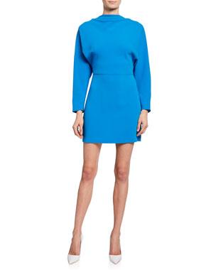 a51dbbe6290 A.L.C. Marin Cowl-Neck Bracelet-Sleeve Mini Dress