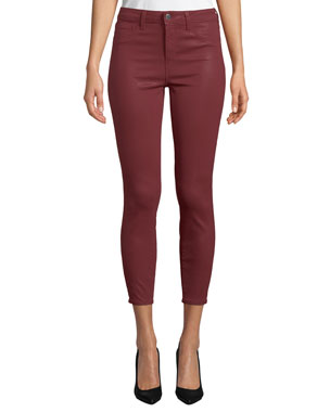 11792eddbc31 L'Agence Margot High-Rise Coated Skinny Jeans