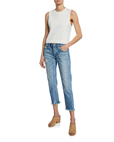 MOUSSY VINTAGE Kelley Tapered Cropped Jeans