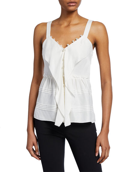 3 1 Phillip Lim Satin Cami With Pearlescent Details