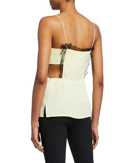 Image 2 of 2: 3.1 Phillip Lim Square-Neck Cutout Camisole with Lace Trim