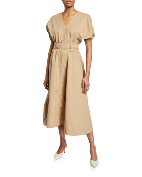 3.1 Phillip Lim Puff-Sleeve Belted Dress