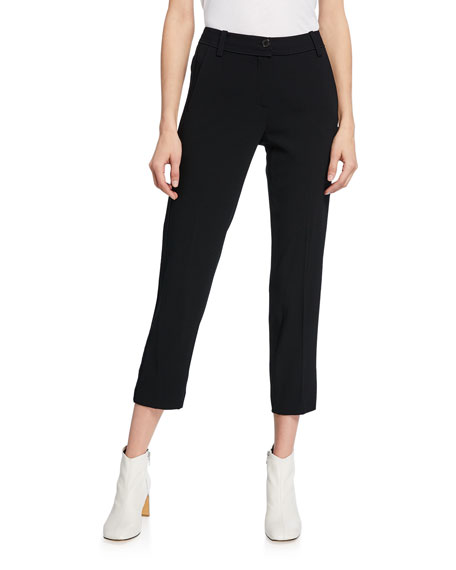 Derek Lam 10 Crosby Mid-Rise Tapered Trousers