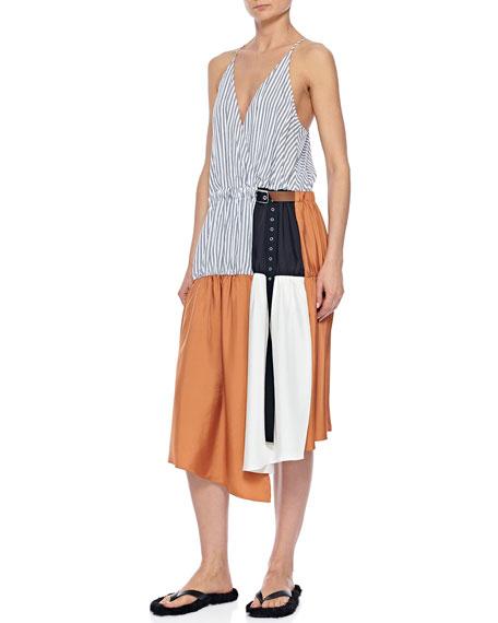 Tibi Colorblock Wrap Slip Dress