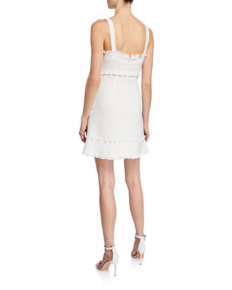 Likely Katrina Square-Neck Sleeveless Mini Dress w/ Ruffle Trim