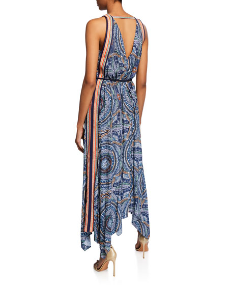 Ramy Brook Vanna Printed Handkerchief Dress
