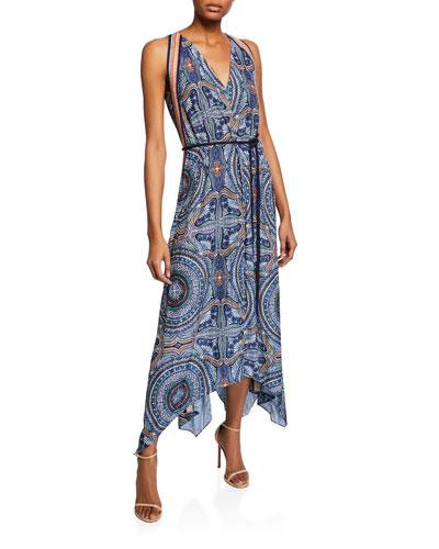 Vanna Printed Handkerchief Dress
