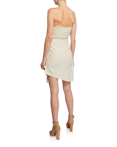 Ramy Brook Carsen Spaghetti-Strap Asymmetric Mini Dress