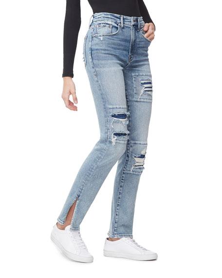 Good American Good Boy Rip/Repair  Jeans - Inclusive Sizing