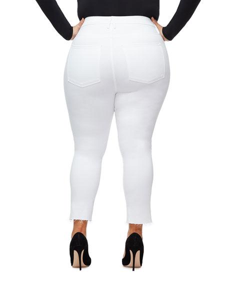 Good American Good Legs Crop Cascade-Hem Jeans - Inclusive Sizing