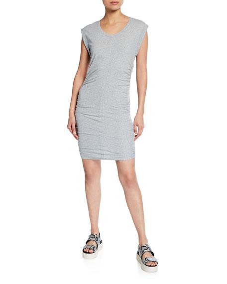 Splendid Scoop-Neck Ruched-Side Min Dress