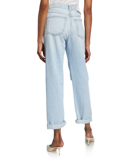 RE/DONE The 90s Double-Yoke Distressed Jeans