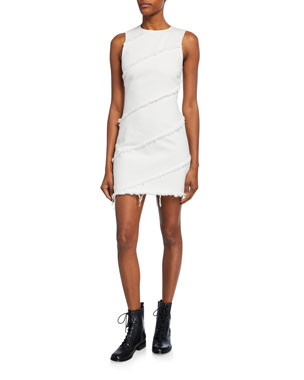 bf199b9646c alexanderwang.t Diagonal Seamed Sleeveless Sheath Dress