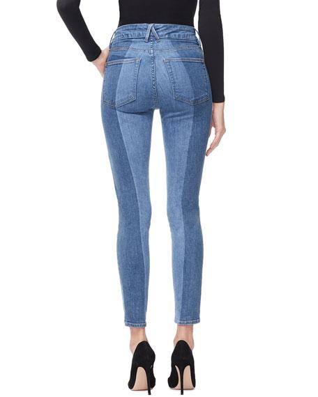 Good American Good Legs Crop Laser-Cut Jeans - Inclusive Sizing