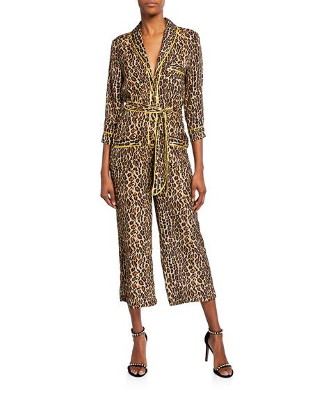 Le Superbe Beatnik Leopard-Print Cropped Jumpsuit
