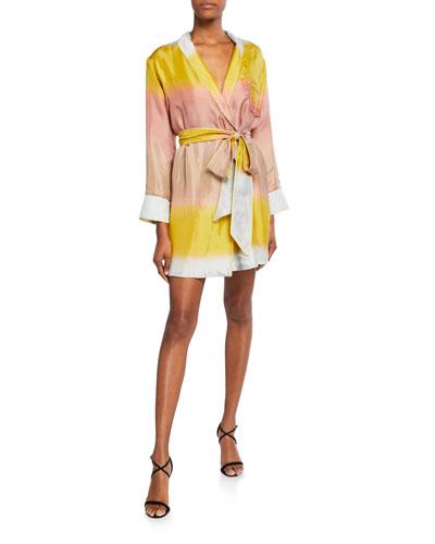Horizon's West Colorblock Mini Robe Dress