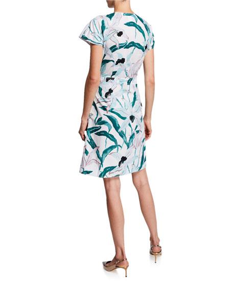 Tory Burch Floral-Printed Short-Sleeve Cotton Shirtdress