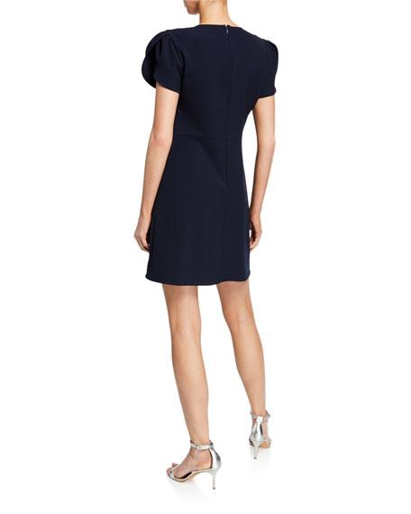 Shoshanna Mercurey Short-Sleeve Mini Tulip Dress