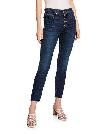 """Veronica Beard Debbie 10"""" Rise Skinny Jeans w/ Button Fly"""