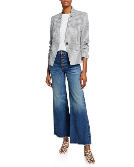 Veronica Beard Kirra Flood-Length Fringe Jeans