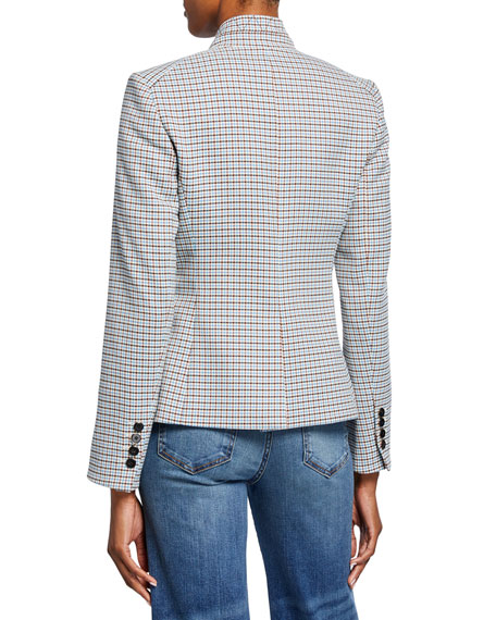 Veronica Beard Farley Checkered Dickey Jacket