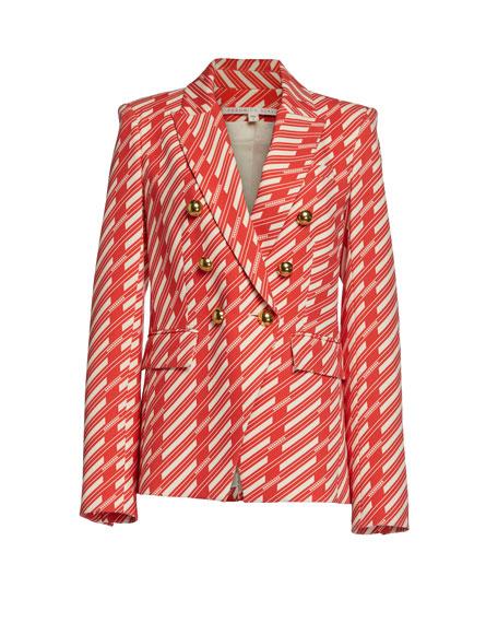 Veronica Beard Miller Striped Dickey Jacket