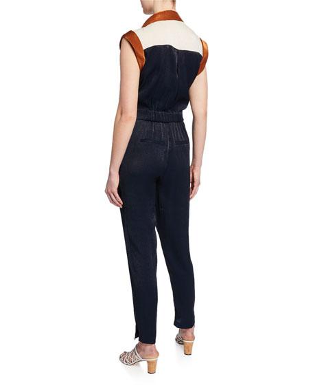 Veronica Beard Jordy Short-Sleeve Jumpsuit