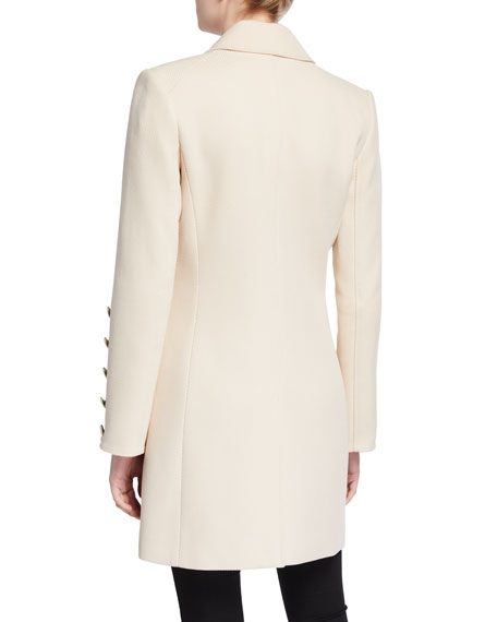Veronica Beard Reece Two-Button Long Coat