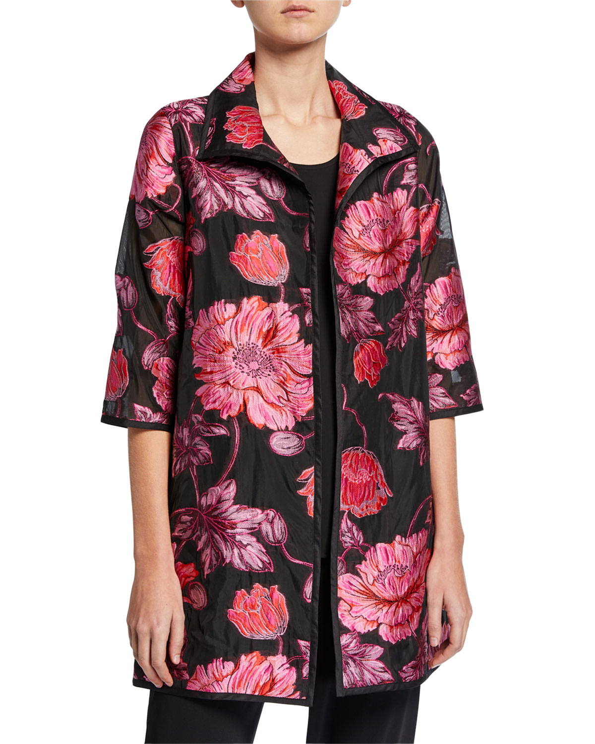 Caroline Rose Flower Market Devore Topper Jacket
