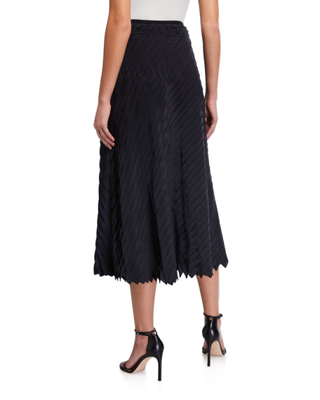 NIC+ZOE Plus Size Fiesta Pleated Ruffle Midi Skirt