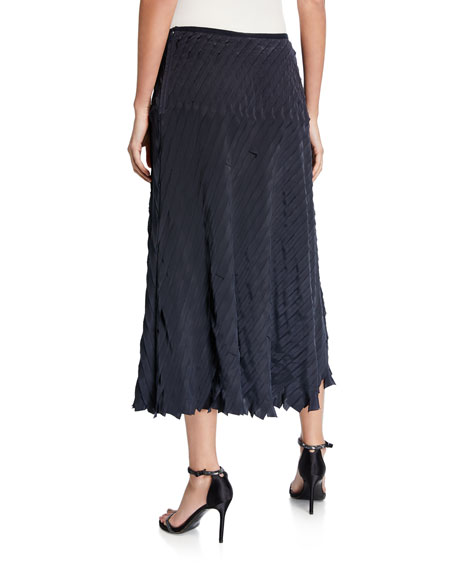Image 2 of 2: Petite Fiesta Pleated Ruffle Midi Skirt